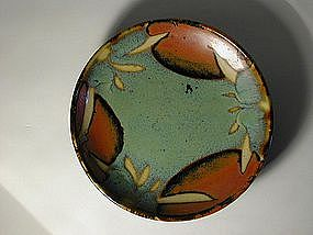 Stoneware dish, Mashiko, Japan, 20th century