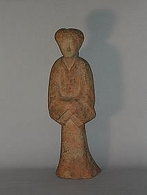 Figure of a lady, earthenware, China, Han dynasty