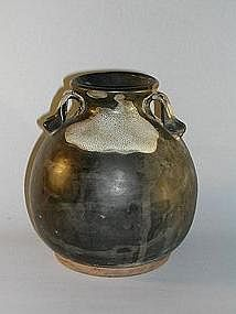 Tang style earthenware jar, China, pre 1900