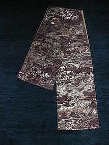 Obi with plant design, Japan, 20th century