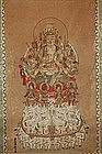 Scroll, Fugen bosatsu on elephant throne, Japan