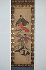 Scroll painting, rokkasen, Hokusai style, Japan, 19th c