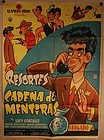Vintage Resortes movie poster Cadena De Mentiras