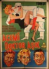 "Original Turkish Release movie poster "" Dr in Love "" c 1960 lithograph"