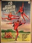 los 3 supermanes en la selva Vintage Mexican Super Hero Movie