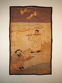 Chinese silk Kossu panel