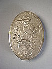 Chinese export silver cosmetic box