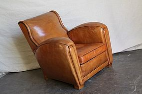 Giant Deauville French Leather Club Chair