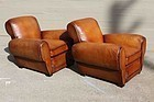 Evereux Restored Rollback French Club Chairs