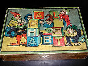 French Wooden Alphabet Blocks 1920's-30's