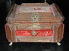 French Tramp Folk Art Box with Claw-Feet