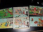 Antique French Picture Puzzle Blocks 1920