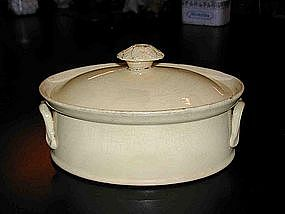Vintage French Yelloware / Stoneware Terrine with Cover