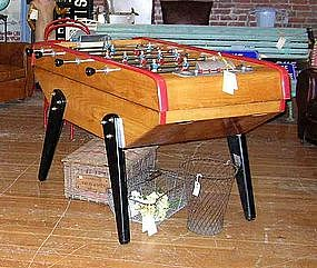 Vintage French Baby Foot Monzini Foosball Table Item 373197