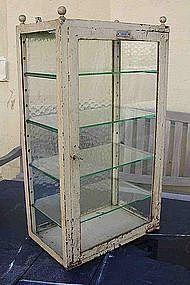 "Vintage French Medical Surgeon's Glass Cabinet ""Loreau"""