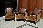 Vintage French Club Chairs - Trianon Trio Set of Three