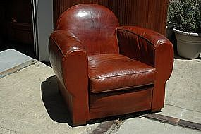 Club Chair from France - Vintage Umber Cinema Single