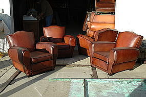 french club chairs set of four classic moustache backs item 764588