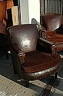 Vintage French Club Chair Liseux Nailed Single