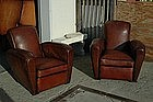 Vintage French Club Chairs Chocolate Paris Rollback
