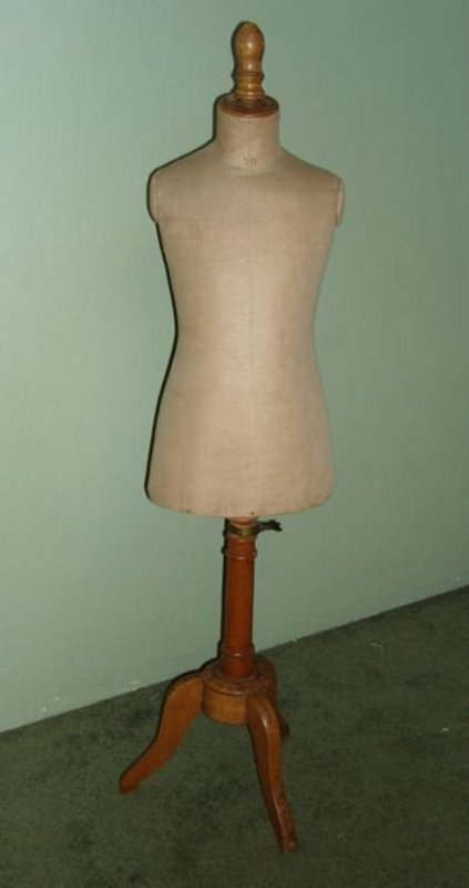 Vintage French Mannequin Child Size Dress Form RARE! (item #913813)