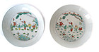 Chinese Antique Pair of Small Doucai Porcelain Plates