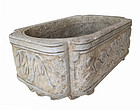 Chinese Carved Marble Planter
