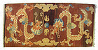 Chinese Antique Rug with 2 Dragons