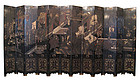 Chinese Antique Huge 12 panel Coromandel Screen