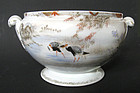 Japanese Porcelain Fruit Bowl with Landscape