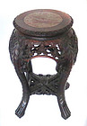 Antique Chinese Marble inset Stool