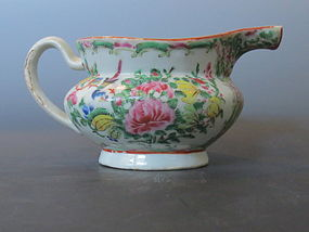 Antique Chinese Rose Canton Creamer