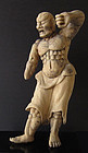 Japanese Antique Wooden Nio, Temple Guardian