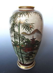 Antique Japanese Satsuma Ware Vase