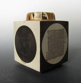 Mouhitsu Hosoji Kutani ware Censer By Tamura Kinsei