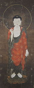 Korean Antique Painting of Amida Buddha