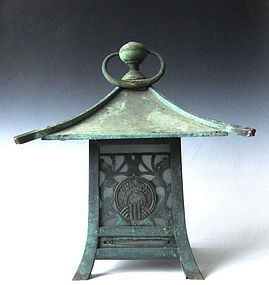 Japanese Shrine Lantern with Inari Crest