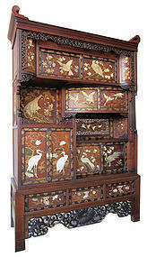 Antique Japanese Inlaid Tansu
