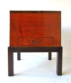 Japanese Antique Keyaki  Hibachi on Stand