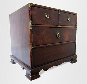 Small Korean Chest with Brass Fittings