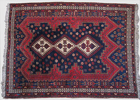 Persian Afshar Hand Knotted Rug