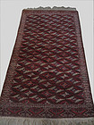 Antique Hand Knotted Yomud Persian Rug