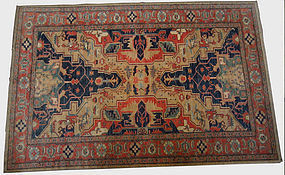 Antique Chobi Hand Knotted Rug