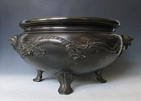 Antique Japanese Bronze Hibachi