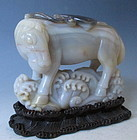 Chinese Agate Carving of Windhorse