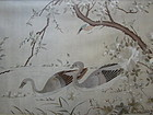 Chinese Antique Silk Embroidered Panel with Geese