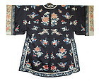 Chinese Antique Silk Robe With Flowers And Butterflies