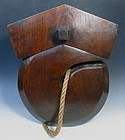 "Japanese Antique Large Wooden ""J"" Hook Jizai"