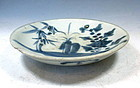 Antique Blue And White Porcelain Kitchenware Dish