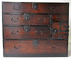 Antique Japanese Single Section Tansu